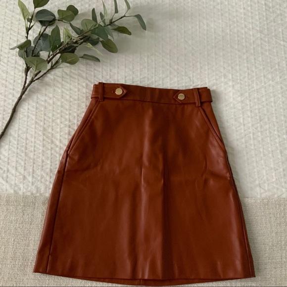 LOFT Dresses & Skirts - LOFT faux leather skirt, size 0